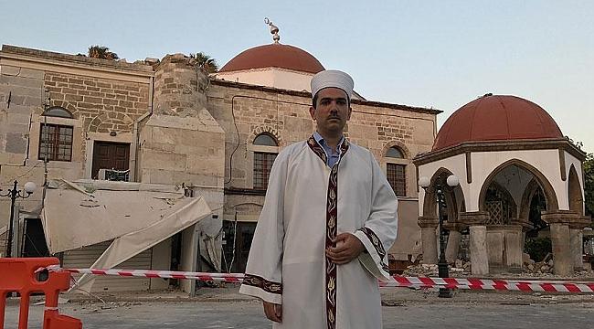 Ege'deki depremde yıkılan cami için yardım çağrısı