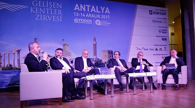 Gelişen Kentler Zirvesi Antalya'da: Kentte 11 mega proje