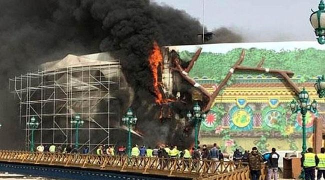 Ankapark inşaatında yangın çıktı