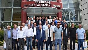 Yeni ve eski başkanlar Tekirdağ'a hizmet için el ele