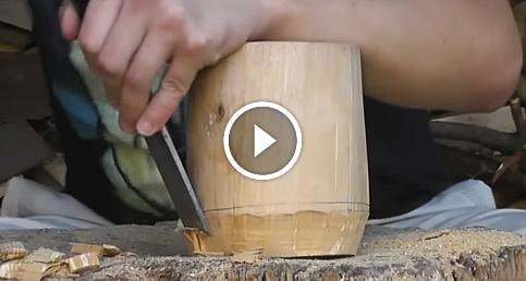 İki dakikada tahta lamba yapımı